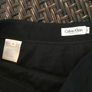 Calvin Klein Collection Skirts - CALVIN KLEIN COLLECTION navy a-line wool skirt